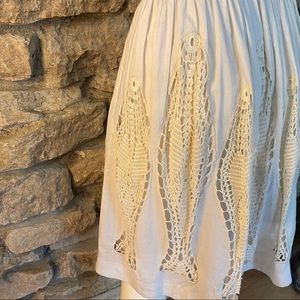 Floreat Skirts - FLOREAT SKIRT W CROCHETED LACE INSETS SIZE SMALL